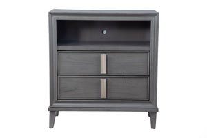 Lorraine Media Chest, Dark Grey