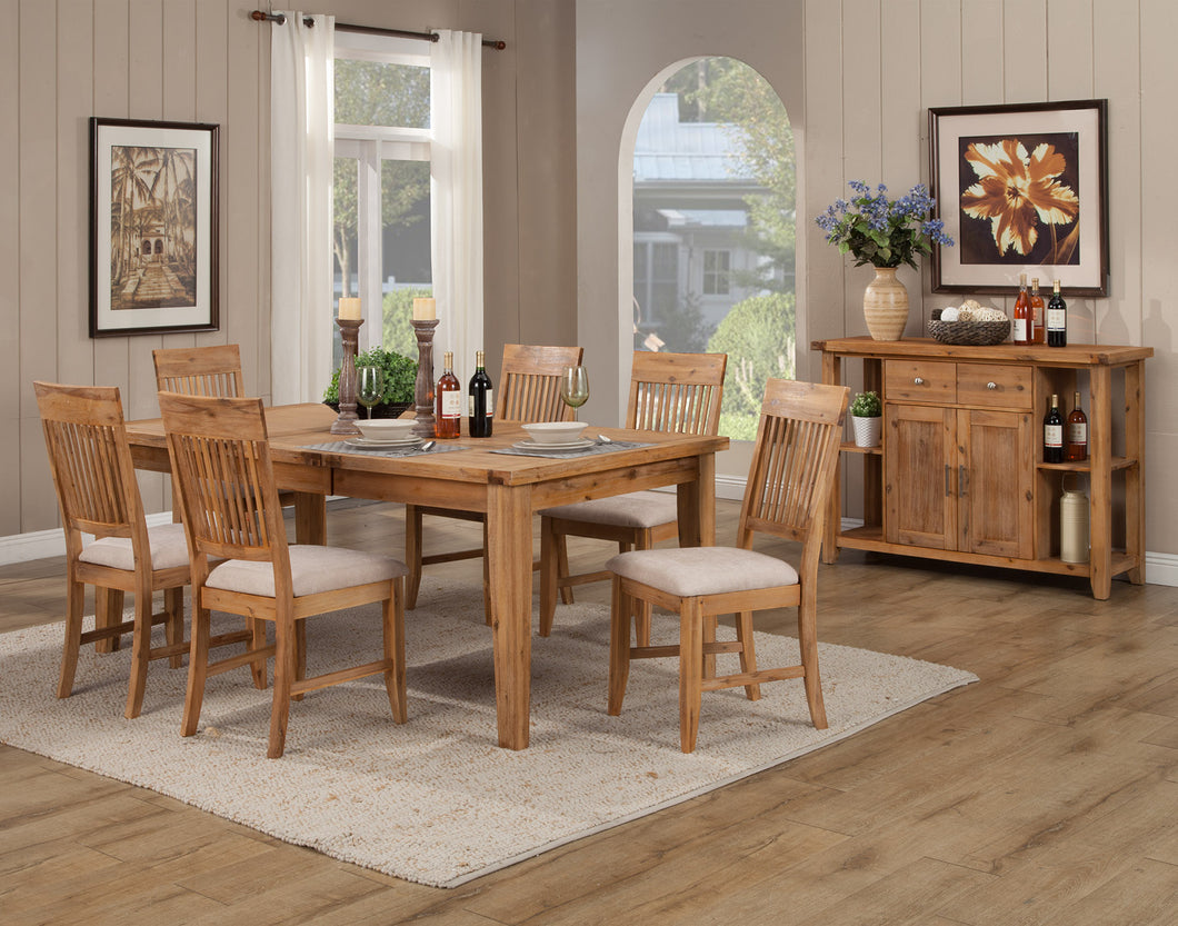 Aspen Extension Dining Table, Antique Natural