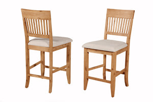 Aspen Pub Chairs, Antique Natural