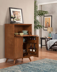 Flynn Large Bar Cabinet, Acorn