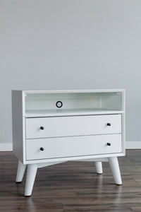 Flynn Large Nightstand, White