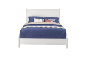 Flynn Panel Bed, White