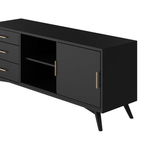 Flynn Large TV Console, Black