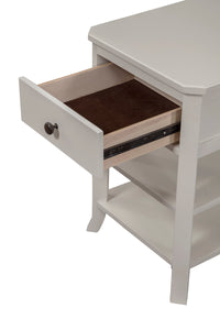 Baker Nightstand, White