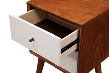 Load image into Gallery viewer, Flynn Nightstand, Acorn/White