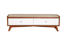 Load image into Gallery viewer, Flynn Bench, Acorn/White