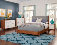 Load image into Gallery viewer, Flynn Panel Bed, Acorn/Grey