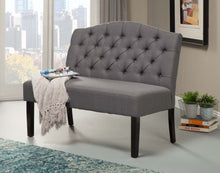 Load image into Gallery viewer, Swan Upholstered Bench, Grey