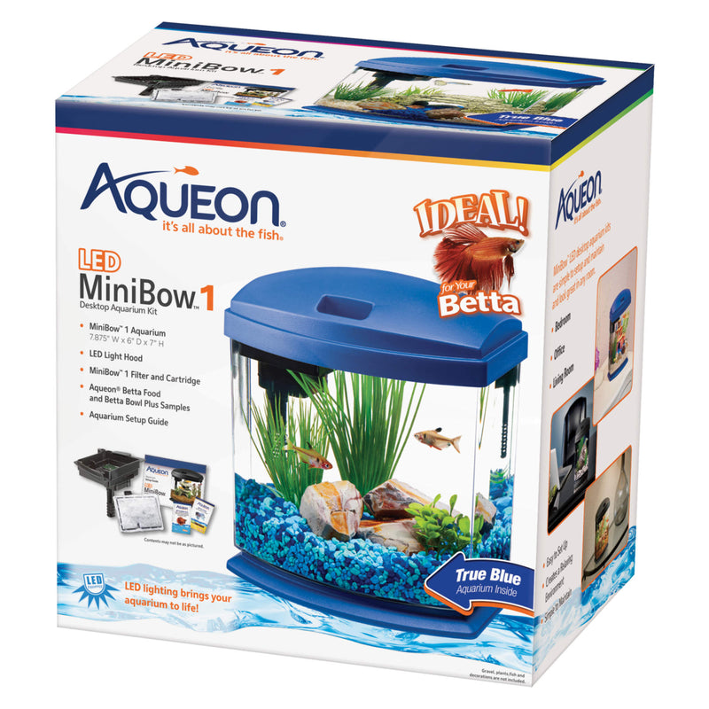 Aqueon MiniBow LED Aquarium Kit 1 Gallon