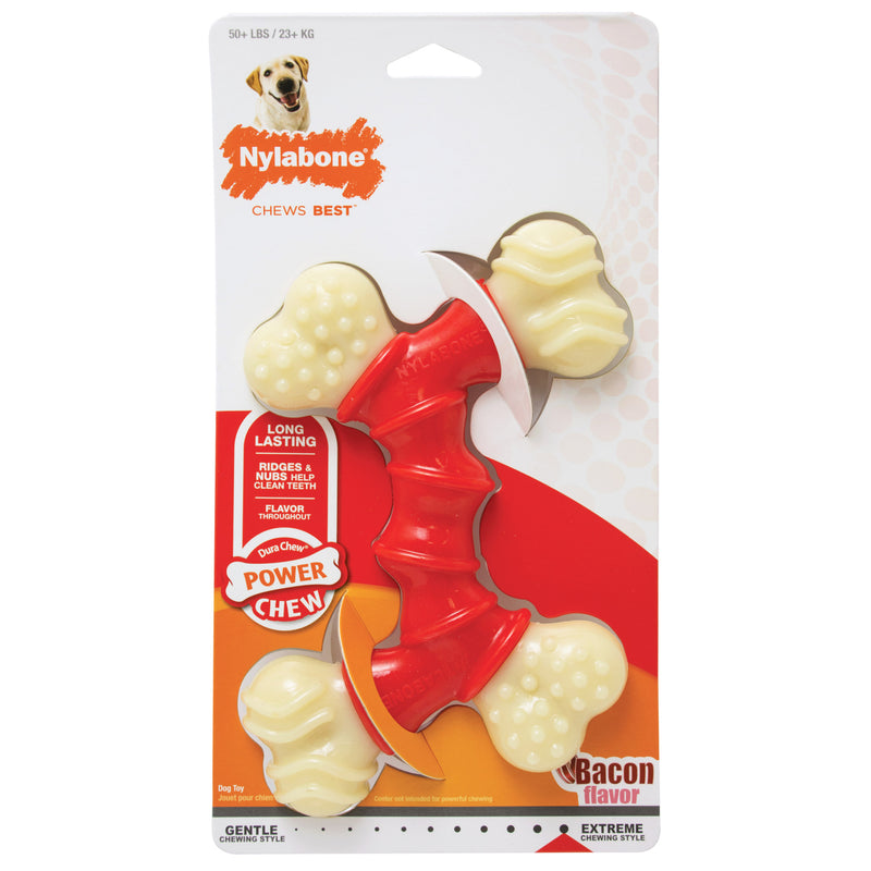 Nylabone Power Chew Double Bone Bacon Chew Toy