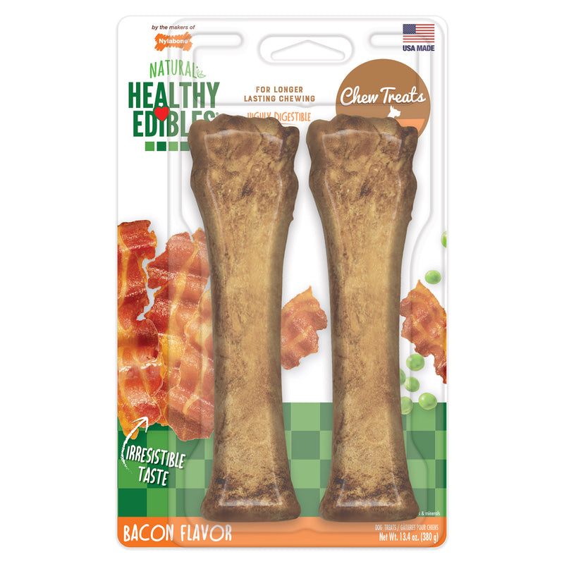 Nylabone Healthy Edibles Longer Lasting Bacon Treats Souper