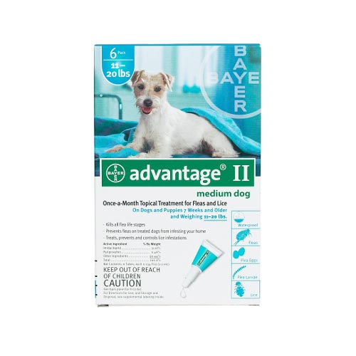 Advantage Flea Control for Dogs And Puppies 11-20 lbs.