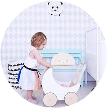 Load image into Gallery viewer, Baby First Steps Activity Walker Wooden Baby Push Walker Baby Balance Walker Kids Walker Toy Car with Wheels for Kids 1-3 Years Old Trolley Toys Children Kids Boys and Girls
