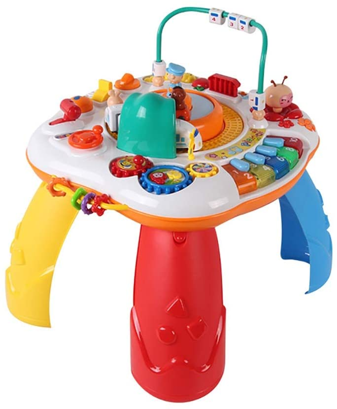 Toddlers, Toy for Boys and Girls Musical Learning Table Music Baby Toys Preschool Educational Games Activity Center Gifts Early Educational Toy Table for Toddler Children Preschool Education