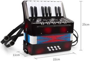 Baby Toy Accordion Kids Piano Percussion Accordion Musical Toy Musical Instrument Accordion Toy Beginner Environmentally-friendly for Early Childhood Development ( Color : Red , Size : 22x11x25cm )