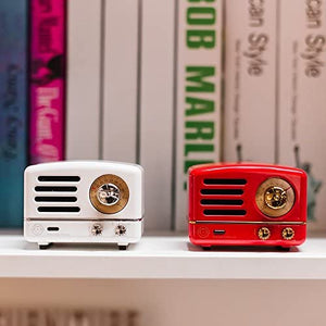 Portable Bluetooth Speakers,Retro Mini Metal Bluetooth Wireless Speaker with hd Sound and bass Fm Radio 6 Hours Playing time,Bluetooth 4.0 -C