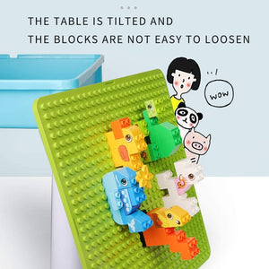 Building Sets Children's Table Multifunctional Toy Table Brain Game Early Education Toys Gift for Children (Color : Green, Size : 454543cm)