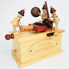 Load image into Gallery viewer, Crank Retro Vintage Printer & Telegraph Pattern Music Box Toy Hand-Wooden Music Box Creative Wooden Crafts Gifts for Kids, Birthday, Xmas, Valentine's Day (Color : Telegraph)