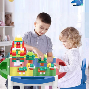 Building Sets Children's Game Table Multi-Function Building Table Puzzle Assembling Toys Children's Study Table Children's Gift (Color : Color, Size : 62.542.5cm)