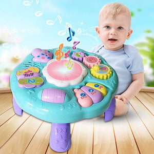 Toddlers, Toy for Boys and Girls Baby Toys Musical Learning Table Education Music Game Table Kids Toys Activity Center 1 2 3 Years Old Boys Girls for Toddler Children Preschool Education