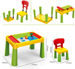 Building Block Game Table Learning Building Table Multi-Functional Building Table Granules Assembling Children's Table Hands-on Toy Game Table for Children