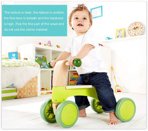 Children's Push Balance Vehicle Walker Multifunction Baby Walker Defense Rollover Child Wooden Baby Toy Car.