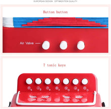 Load image into Gallery viewer, Baby Toy Accordion Kids Piano Percussion Accordion Musical Toy Musical Instrument Accordion Toy Beginner Environmentally-friendly for Early Childhood Development ( Color : Red , Size : 22x11x25cm )