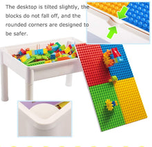 Load image into Gallery viewer, Building Sets Multi-Functional Building Table Children Assembling Educational Toys Children's Study Table Best Gift (Color : Color, Size : 6144cm)