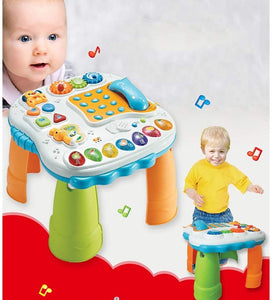 Toddlers, Toy for Boys and Girls Music Learning Game Table for Children Early Education Zhiyi Toys 1-3 Year Old Boy Girl Baby for Toddler Children Preschool Education