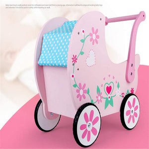 Baby Walker with Wheel Children's Shopping Cart Trolley Walker Toys for 6 Months to 3 Years Old (Color : Pink, Size : 47x42x27CM)