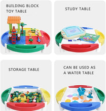 Load image into Gallery viewer, Building Sets Children's Game Table Multi-Function Building Table Puzzle Assembling Toys Children's Study Table Children's Gift (Color : Color, Size : 62.542.5cm)