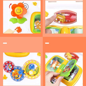 Toddlers, Toy for Boys and Girls Baby Toys Musical Play and Learn Activity Table Early Education Toys Music Activity Center Orange for Toddler Children Preschool Education