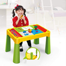 Load image into Gallery viewer, Building Block Game Table Learning Building Table Multi-Functional Building Table Granules Assembling Children's Table Hands-on Toy Game Table for Children