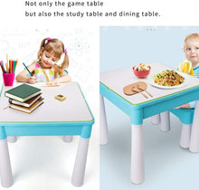 Load image into Gallery viewer, Building Sets Children's Table Multifunctional Toy Table Brain Game Early Education Toys Gift for Children (Color : Green, Size : 454543cm)