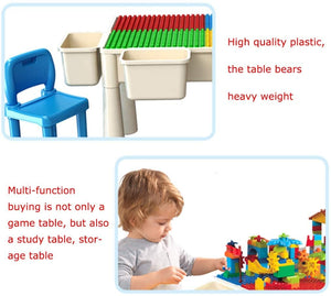 Building Sets Multi-Functional Building Table Children Assembling Educational Toys Children's Study Table Best Gift (Color : Color, Size : 6144cm)