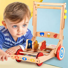 Load image into Gallery viewer, Baby Walker with Wheel Baby Walker, Push Toy, Mobile Walker, Wooden Walker, Child Pull Truck, Simple Walker for 6 Months to 3 Years Old (Color : Multi-Colored, Size : 50x39x38.5CM)