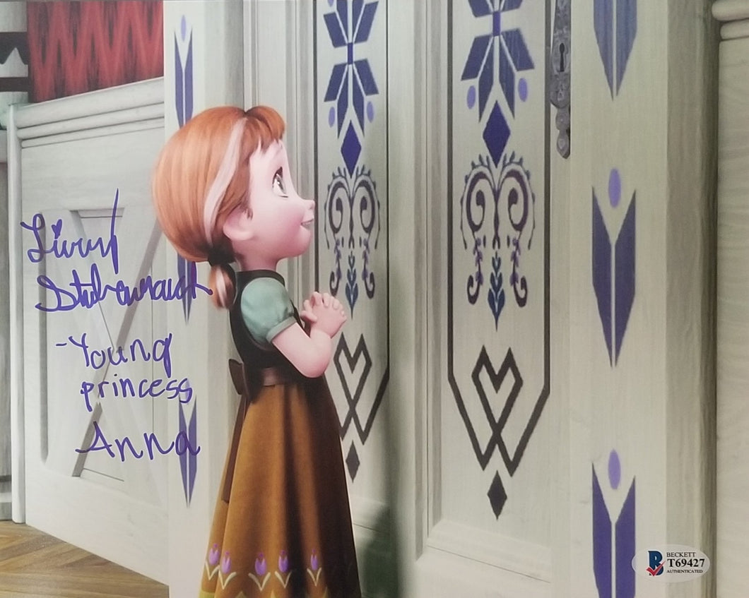 Livvy Stubenrauch - Signed Young Anna Frozen 8x10 Photo #5