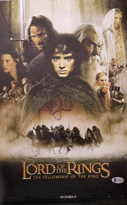 Elijah Wood - Signed 11x17 Lord of the Rings Mini Movie Poster