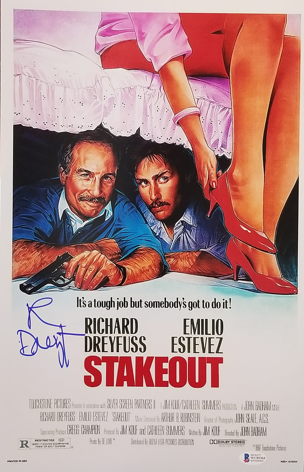 Richard Dreyfuss - Signed Stakeout 11x17 Mini Poster
