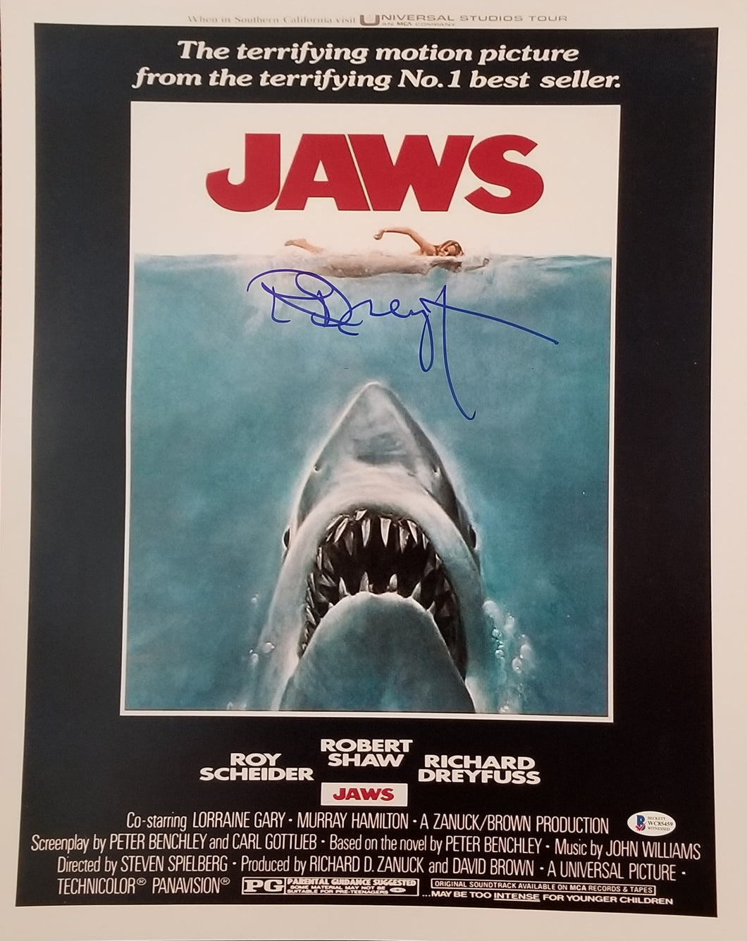 Richard Dreyfuss - Signed JAWS 16x20 Movie Poster Photo