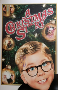 Peter Billingsley - Signed A Christmas Story 11x17 Movie Poster Photo #1