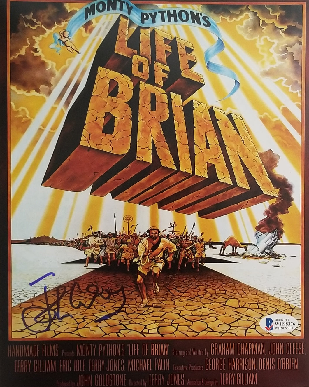 John Cleese - Signed 8x10 Life of Brian Mini Movie Poster