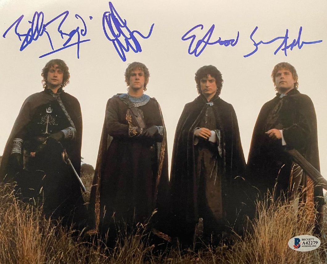 Elijah Wood, Sean Astin, Billy Boyd and Dominic Monaghan - Cast Signed Lord of the Rings Image #2 (8x10, 11x14, 16x20)