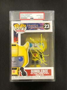Frank Welker - Signed and Encapsulated Bumblebee Transformers Funko POP!