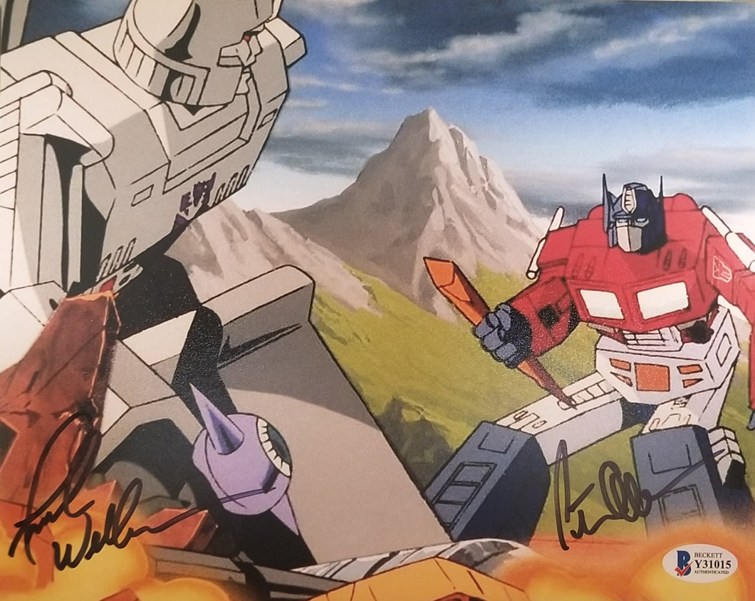 Frank Welker and Peter Cullen - Dual Signed Transformers 8x10 Photo #2