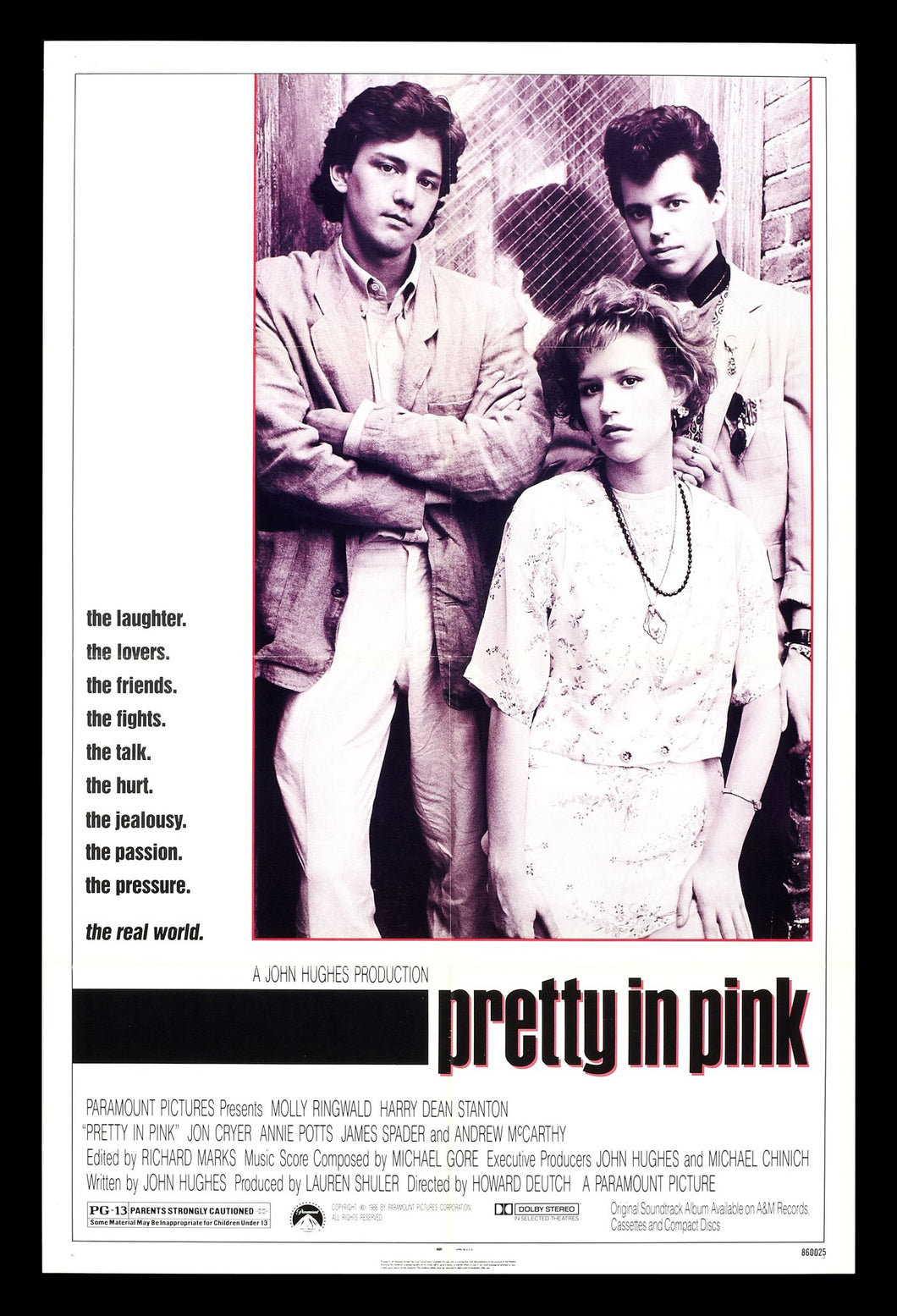 Molly Ringwald - Signed Pretty in Pink Movie Poster (8x10, 11x17)
