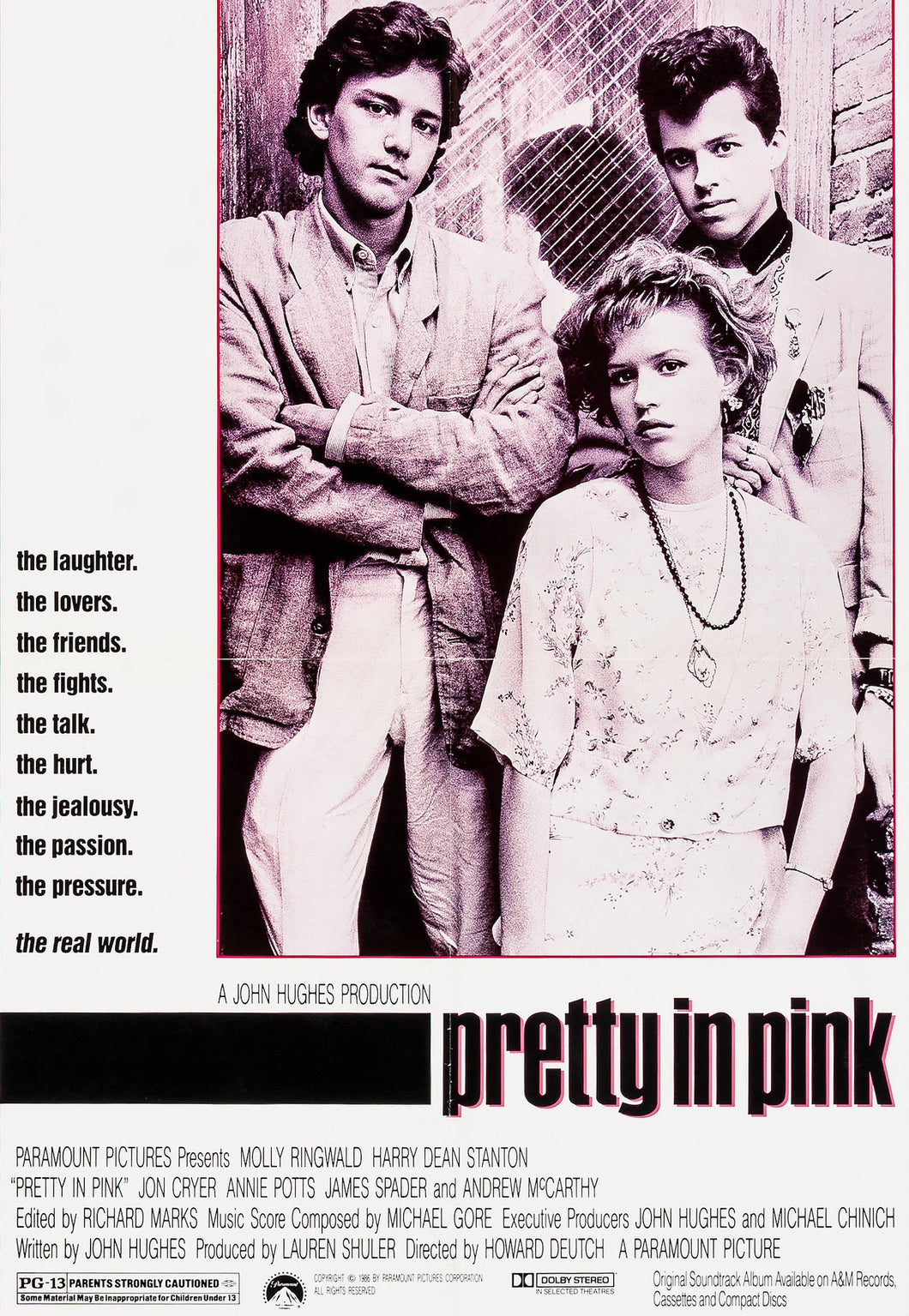 Andrew McCarthy and Molly Ringwald - Dual Signed Pretty in Pink Mini Movie Poster (8x10, 11x17)