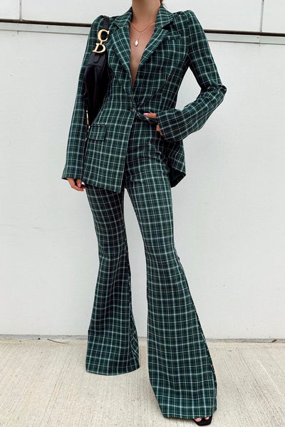 the kaia suit in emerald
