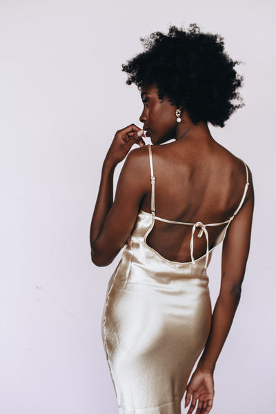 the lumina slip dress