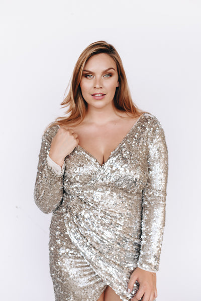 the luna sequin wrap